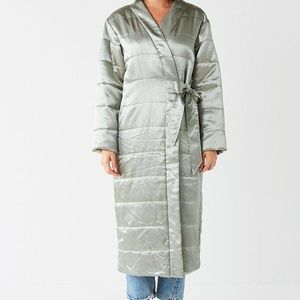 Urban Outfitters Green Uo Henrietta Quilted Maxi W